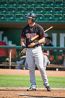 Dalton Carter (8) of the Billings Mustangs at bat against the Ogden Raptors in Pioneer League action at Lindquist Field on August 16, 2015 in Ogden, Utah. Billings defeated Ogden 6-3.  (Stephen Smith/Four Seam Images)