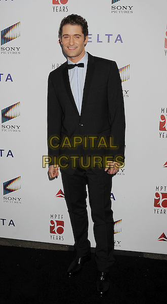 "Matthew Morrison.The 6th Annual ""A Fine Romance"" Event Held At Sony Pictures Studios, Culver City, California, USA, 15th October 2011..full length black tuxedo grey gray shirt bow tie .CAP/ROT/TM.©Tony Michaels/Roth Stock/Capital Pictures"