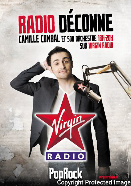 Publicité<br /> Virgin Radio<br /> Camille Combal