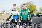 l-r  Robbie Scott and Colin Scott. at the Fenit Lifeboat charity fun cycle from O'Donnells, Mounthawk on Saturday