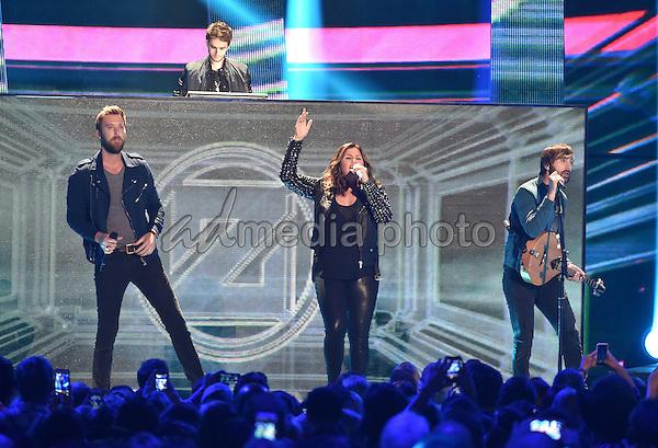 10 June 2015 - Nashville, Tennessee - Lady Antebellum, Charles Kelley, Hillary Scott and Dave Haywood. 2015 CMT Music Awards held at Bridgestone Arena. Photo Credit: Laura Farr/AdMedia