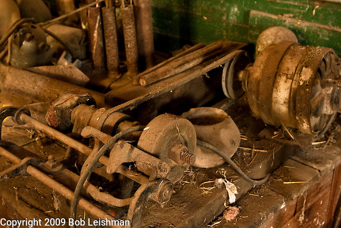 Items stored more than 30 years in an old repair shop.
