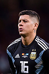 Marcos Rojo of Argentina getting into the field during the International Friendly 2018 match between Spain and Argentina at Wanda Metropolitano Stadium on 27 March 2018 in Madrid, Spain. Photo by Diego Souto / Power Sport Images