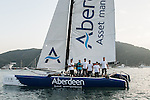 Aberdeen Extreme 40 sails in Stanley Bay prior to the Hong Kong Around the Island Race on November 08, 2013 at Royal Hong Kong Yacht Club in Hong Kong, China. Photo by Xaume Olleros / The Power of Sport Images