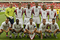 USA starting eleven. The USA tied South Korea, 1-1, during the FIFA World Cup 2002 in Daegu, Korea.