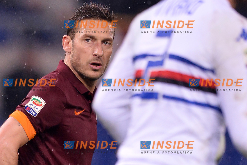 Francesco Totti Roma.<br /> Roma 16-03-2015 Stadio Olimpico. Football Calcio 2014/2015 Serie A. AS Roma - Sampdoria. Foto Antonietta Baldassarre / Insidefoto