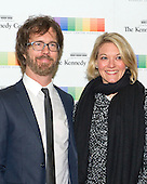Musician Ben Folds and guest arrive for the formal Artist's Dinner honoring the recipients of the 38th Annual Kennedy Center Honors hosted by United States Secretary of State John F. Kerry at the U.S. Department of State in Washington, D.C. on Saturday, December 5, 2015. The 2015 honorees are: singer-songwriter Carole King, filmmaker George Lucas, actress and singer Rita Moreno, conductor Seiji Ozawa, and actress and Broadway star Cicely Tyson.<br /> Credit: Ron Sachs / Pool via CNP