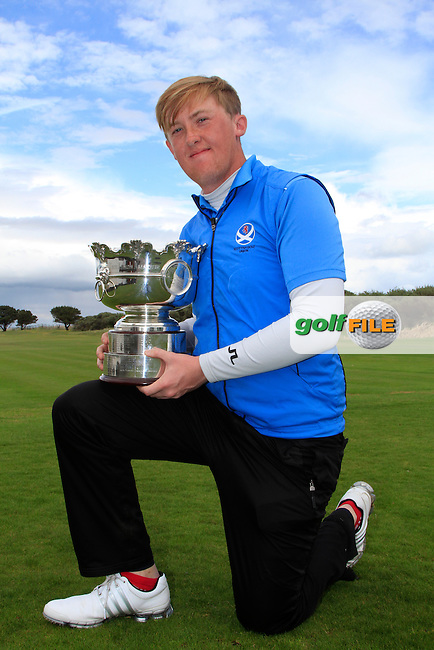 Jamie Savage (SCO) winner of the The Irish Amateur Open Championship in The Royal Dublin Golf Club on Sunday 11th May 2014.<br /> Picture:  Thos Caffrey / www.golffile.ie