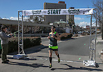 First place finisher Tyler Rose in the Shamrock Shuffle 5k fun run in Sparks on Saturday, March 4, 2017.