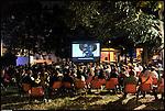 Cinemainstrada 2012, festival di cinema di comunità. Qui in Piazza Bottesini.