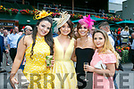 Enjoying the Killarney Races on Thursday were Katelyn Coffey, Janelle Moriarty, Sharon Doonan and Rachel Coffey