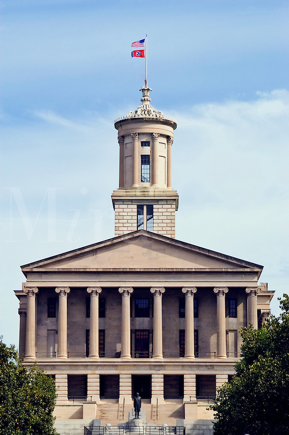 The Tennessee State Capitol building, in downtown Nashville.