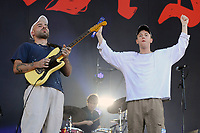LONDON, ENGLAND - JUNE 29: Matt Mason and Tommy O'Dell of 'DMA'S' performing at Finsbury Park on June 29, 2018 in London, England.<br /> CAP/MAR<br /> &copy;MAR/Capital Pictures