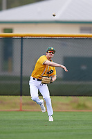 North Dakota State Bison outfielder Thomas Krause (30) during warmups before a game against the Central Connecticut State Blue Devils on February 23, 2018 at North Charlotte Regional Park in Port Charlotte, Florida.  North Dakota State defeated Connecticut State 2-0.  (Mike Janes/Four Seam Images)