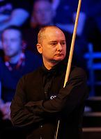 25th February 2020; Waterfront, Southport, Merseyside, England; World Snooker Championship, Coral Players Championship; Graeme Dott (SCO) waits to return to the table during his first round match against John Higgins (SCO)