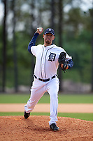 Detroit Tigers Gabe Hemmer (47) during a minor league Spring Training game against the Washington Nationals on March 21, 2016 at Tigertown in Lakeland, Florida.  (Mike Janes/Four Seam Images)