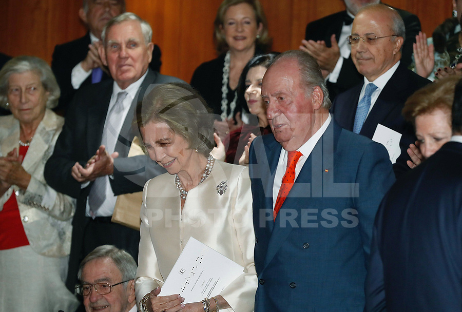 02-11-2018 Spain Queen Sofia, with King Juan Carlos, attend a concert celebrating her 80th birthday at the Reina Sofia School of Music in Madrid<br /> <br /> .<br /> .