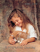 Enrique, CHILDREN, photos, girl, cat(SPMC1676,#K#) Kinder, niños
