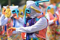 BARRANQUILLA - COLOMBIA, 02-03-2019: Un artista luce un disfraz tradicional de  marimonda durante el desfile Batalla de Flores del Carnaval de Barranquilla 2019, patrimonio inmaterial de la humanidad, que se lleva a cabo entre el 2 y el 5 de marzo de 2019 en la ciudad de Barranquilla. / An artist with a traditional custom of marimonda performs during the Batalla de las Flores as part of the Barranquilla Carnival 2019, intangible heritage of mankind, that be held between March 2 to 5, 2019, at Barranquilla city. Photo: VizzorImage / Alfonso Cervantes / Cont.