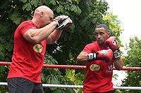 Kid Galahad (R) during a Public Work Out at ITV Head Office on 12th July 2017