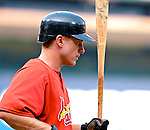 4 August 2007: St. Louis Cardinals shortstop David Eckstein awaits his turn in the batting cage prior to a game against the Washington Nationals at RFK Stadium in Washington, DC. The Nationals defeated the Cardinals 12-1 in the second game of their 3-game series...Mandatory Photo Credit: Ed Wolfstein Photo