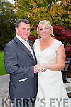 Tracy Kelly, Ballybunion, daughter of Noel and Ann Kelly, and Joe Spillane, Castlegregory, son of Frank and Margaret Spillane, were married at Ballybunion Church by Fr. Spring on Saturday 17th October 2015 with a reception at Ballygarry House Hotel