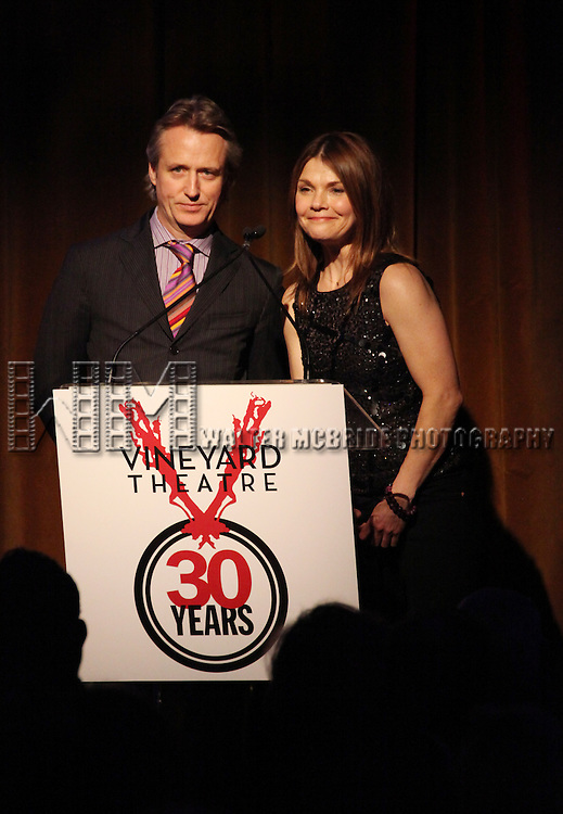 Linus Roache & Kathryn Erbeperforming at the Vineyard Theatre's 30th Anniversary Gala Celebration Cocktail Reception at the Edison Ballroom in New York City on 3/18/2013
