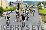 Cyclists making their way through Cahersiveen on Saturday morning on the Ring of Kerry Cycle.