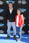 "Adrian Pasdar and son at the World Premiere of ""Monsters University"" at the El Capitan Theatre in Los Angeles on June 17, 2013"