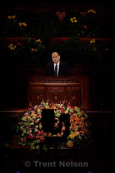 LDS General Conference Saturday AM session, Conference Center, Salt Lake City. 4.01.2006 Thomas S. Monson<br />