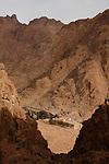 view on Saint Catherine's Monastery<br /> <br /> Vue matinale sur le monast&egrave;re de Sainte Catherine depuis la descente par l'escalier de la Repentance .