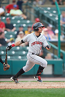 Indianapolis Indians center fielder Danny Ortiz (3) during a game against the Rochester Red Wings on May 26, 2016 at Frontier Field in Rochester, New York.  Indianapolis defeated Rochester 5-2.  (Mike Janes/Four Seam Images)