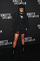 BUENA PARK, CA - SEPTEMBER 29: Vanessa Hudgens, at Knott's Scary Farm & Instagram's Celebrity Night at Knott's Berry Farm in Buena Park, California on September 29, 2017. Credit: Faye Sadou/MediaPunch