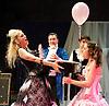 Prima La Musica<br /> Opera At Home Ensemble<br /> at The Arcola Theatre, London, Great Britain <br /> 25th August 2011 <br /> Rehearsal <br /> Grimeborn The Opera Festival<br /> directed by Jose Manuel Gandia<br /> <br /> Alexia Mankovskaya (as Eleonora)<br /> Victor Sgarbi (as Maestro)Dario Dugandzic (as Poeta)<br /> Merrin Lazyan (as Tonina)<br /> <br /> <br /> Photograph by Elliott Franks