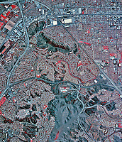 historical infrared aerial photograph of Chino, California, 2002