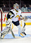 14 December 2009: Buffalo Sabres' goaltender Ryan Miller warms up prior to facing the Montreal Canadiens at the Bell Centre in Montreal, Quebec, Canada. The Sabres defeated the Canadiens 4-3. Mandatory Credit: Ed Wolfstein Photo