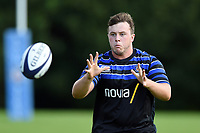 Arthur Cordwell of Bath Rugby receives the ball. Bath Rugby pre-season training on August 14, 2018 at Farleigh House in Bath, England. Photo by: Patrick Khachfe / Onside Images