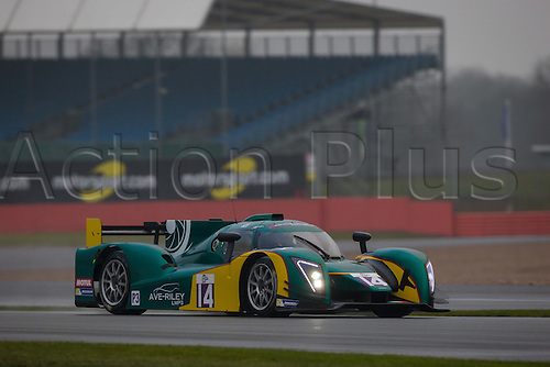 15.04.2016 Silverstone Circuit Northamptonshire England. Free Practice for Round 1 of the European Le Mans Series 2016 (ELMS). #14 Tony Ave (USA) / Doug Peterson (VEN) / - driving the MURPHYP3-3DIMENSIONAL.COM Ginetta - Nissan LMP3 car.