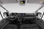 Stock photo of straight dashboard view of 2020 Man TGE - 4 Door Refrigerated Van Dashboard