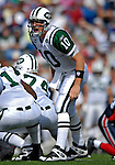 30 September 2007: New York Jets quarterback Chad Pennington calls out a play against the Buffalo Bills at Ralph Wilson Stadium in Orchard Park, NY. The Bills defeated the Jets 17-14 handing the Jets their third loss of the season...Mandatory Photo Credit: Ed Wolfstein Photo