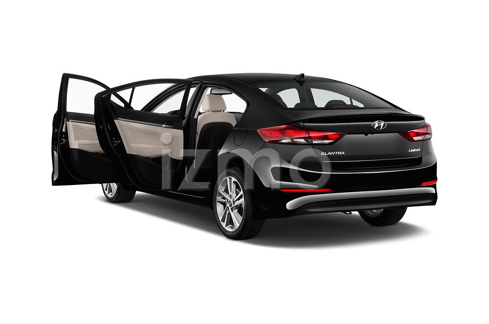 Car images close up view of a 2018 Hyundai Elantra Limited 4 Door Sedan doors
