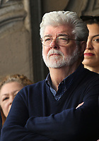 LOS ANGELES, CA - MARCH 8: George Lucas at the Hollywood Walk Of Fame Ceremony honoring Mark Hamill in Los Angeles, California on March 8, 2018. <br /> CAP/MPI/FS<br /> &copy;FS/MPI/Capital Pictures