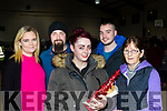 L-R Sandra Locke, James&Samantha Roche, Chris Mulch with Sally Roche at the Community hall, Castleisland indoor market last Friday night in aid of Kerry parents and friends.