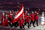 Olympic team of Austria during the parade of nations at the Opening ceremony of the 2014 Sochi Olympic Winter Games at Fisht Olympic Stadium on February 7, 2014 in Sochi, Russia. Photo by Victor Fraile / Power Sport Images