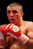 November 9th 2007 - Esham Pickering during his bout with Sean Hughes at the Ice Arena, Nottingham, England