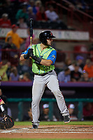 Las Ardillas Voladoras de Richmond Joey Bart (33) at bat during an Eastern League game against the Erie Piñatas on August 28, 2019 at UPMC Park in Erie, Pennsylvania.  Richmond defeated Erie 4-3 in the second game of a doubleheader.  (Mike Janes/Four Seam Images)