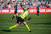 Kansas City, MO - Sunday September 3, 2017: Nicole Barnhart during a regular season National Women's Soccer League (NWSL) match between FC Kansas City and Sky Blue FC at Children's Mercy Victory Field.