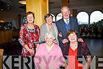 Enjoying a great day of entertainment at Waterville Community & Active Retired Group party in the Waterville Lake Hotel on Sunday were front l-r; Mary O'Sullivan, Betty Sheridan, back l-r; Abbie Clifford, May Joe Fitzpatrick & Jimmy Clifford.