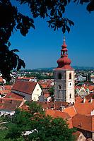 Slowenien, Ptuj, Blick von Burg.