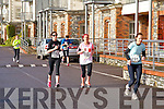 Muara O'Conner, Carrie-Anne Boylan, and Siobhan Shanahan at the Valentines 10 mile road race in Tralee on Saturday.